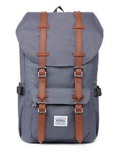 421b19b7d7f14 Das Bild wird geladen Rucksack-Damen-Herren-Schulrucksack-KAUKKO-Laptop- Backpack-Laessiger-