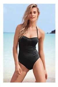 Bnwt Next Black Shape Enhancer Swim Suit Swimming Costume 32 Ab 32
