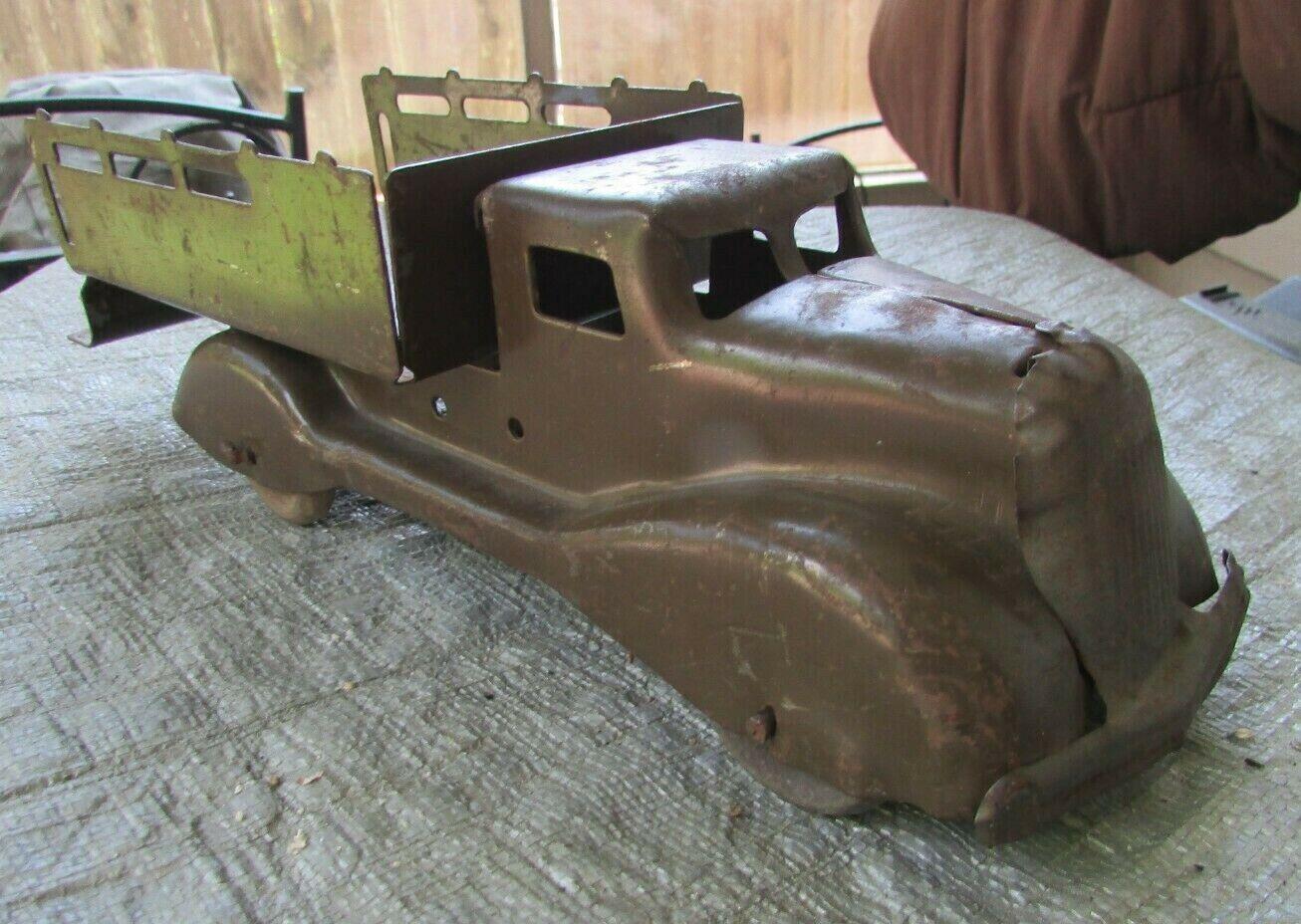 1930s Wyandotte Pressed Steel Grün Army Ammuntion Supplies Truck 11  G VG 3.0