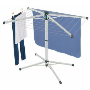 LEIFHEIT PORTABLE LINO POP UP 140 SELF STANDING ROTARY DRYER 14M + COVER