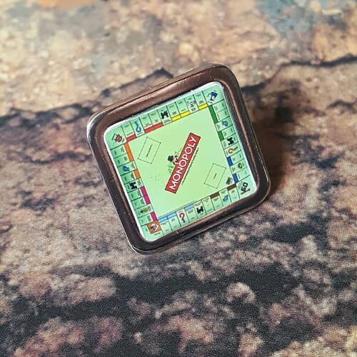 Unique MONOPOLY PIN BADGE estate agent PROPERTY board game MONEY retro COOL!