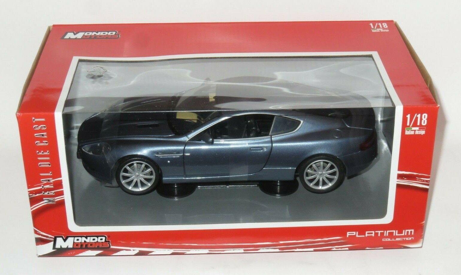 1 18 Mondo Motors   -  Aston Martin DB9 Coupe  -  Metallic bluee Grey