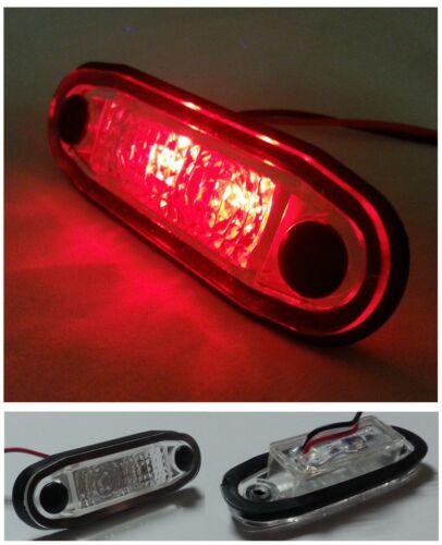 4x 24V LED White Clear Front Side Marker Lights lamps For Man Daf Scania Volvo