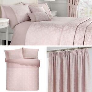 Fundas-de-Edredon-Rosa-Blush-Jacquard-Floral-Cubierta-Del-Edredon-Conjuntos-de-Ropa-de-cama-de-lujo