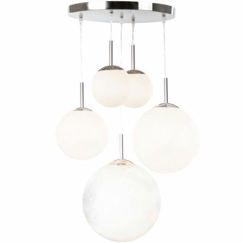 Pendel Lampen Kugel Decken Hänge Strahler Wohn Zimmer Glas Beleuchtung satiniert