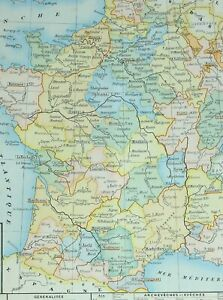 Map Of France Toulouse.Details About 1905 Map France 1789 Paris Dijon Bordeaux Toulouse Montpellier Nancy
