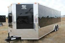 New 2022 85 X 24 85x24 Enclosed Race Cargo Car Hauler Trailer Loaded