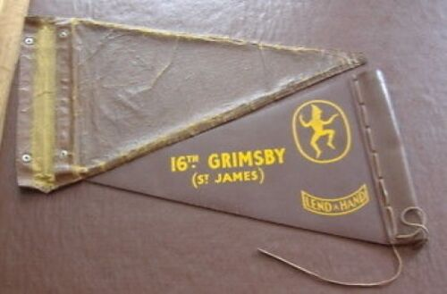 16th Grimsby Brownies Pack Leather Pennant & Case