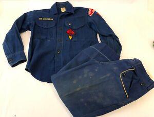 Details about Vintage 1966 Cub Scouts of America Blue Official Scouting  Uniform Shirt & Pants