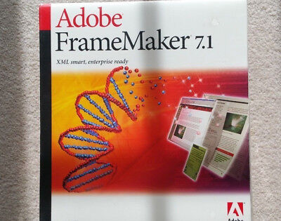 Adobe Framemaker 7.1 Windows Ie Englisch English Vollversion Box Mwst Neu Ovp Verkoop Van Kwaliteitsborging