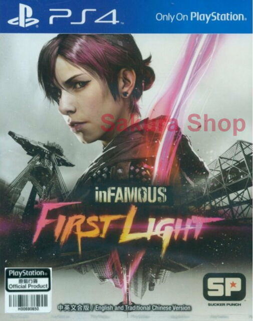 New Sony PS4 Games Infamous First Light HK Version Chinese/English Subs