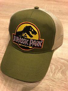 cfa74b1e5fa Image is loading Jurassic-Park-Hat-Trucker-Embroidered-Patch-Cap-Dinosaur-