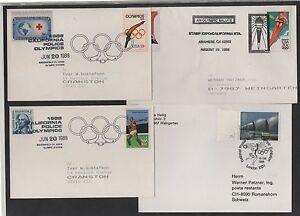JEUX-OLYMPIQUES-OLYMPICS-LOT-DE-10-LETTRES-3-IMAGES-ref-7314