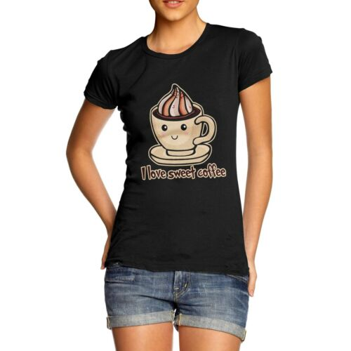Twisted Envy Women/'s I Love Sweet Coffee T-Shirt