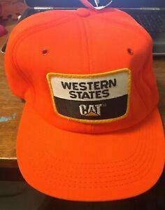 CAT WESTERN STATES CATERPILLAR Vintage 80's Snapback Trucker Farmer Seed Hat
