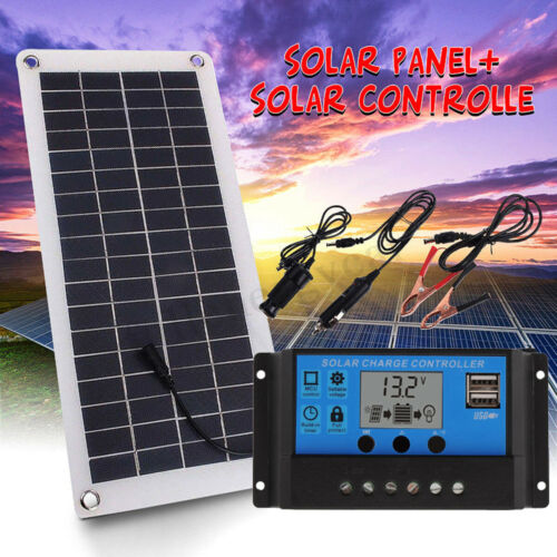 20W Solar Panel Charger 50A Solar Charge Controller for Car Boat Yacht Outdoor