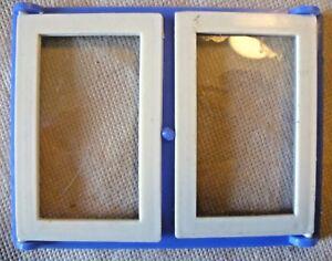 à Condition De Vintage Dolls House À Faire Soi-même - Caroline's Home Double Simple Vitrage Blue Window-afficher Le Titre D'origine