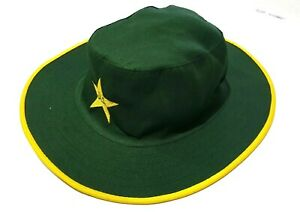 CRICKET UMPIRE WIDE BRIMMED COTTON  SUN HAT  AVAILABLE RED BLUE /& GREEN
