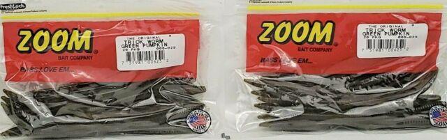 "Zoom 006025 Trick Worm 6 1//2/"" 20pk Green Pumpkin for sale online"