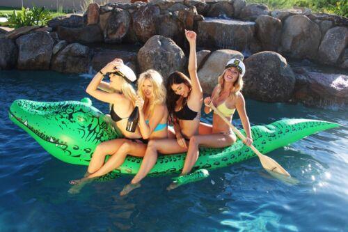"""environ 3.35 m de long plus de 11 ft GoFloats Bigal /""""Géant Gonflable Alligator"""