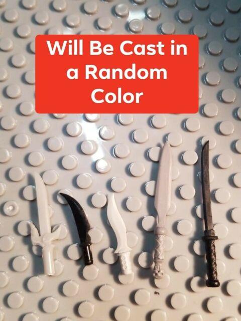 Custom Cast in Random Color 5 Midieval Blades compatible with Mega Construx
