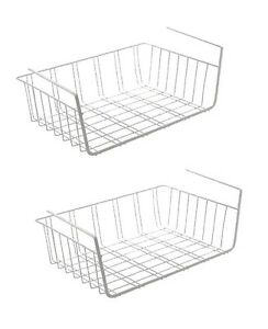 2er set h ngekorb metall aufbewahrungs korb unterbau. Black Bedroom Furniture Sets. Home Design Ideas