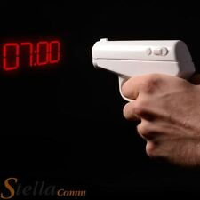 Secret Agent Alarm Clock - Projection Gun Pistol Project Time On To The Wall