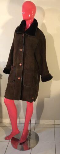 Дубленка Euc de Cozy Manteau en M Jacket peau mouton retournée Taille Brown Tradong Long qYZBOtw