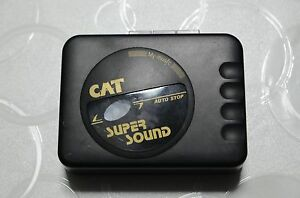 LETTORE AUDIOCASSETTE REGISTRATORE CAT SUPER SOUND AUTO AUDIO CASSETTE MUSICA DI