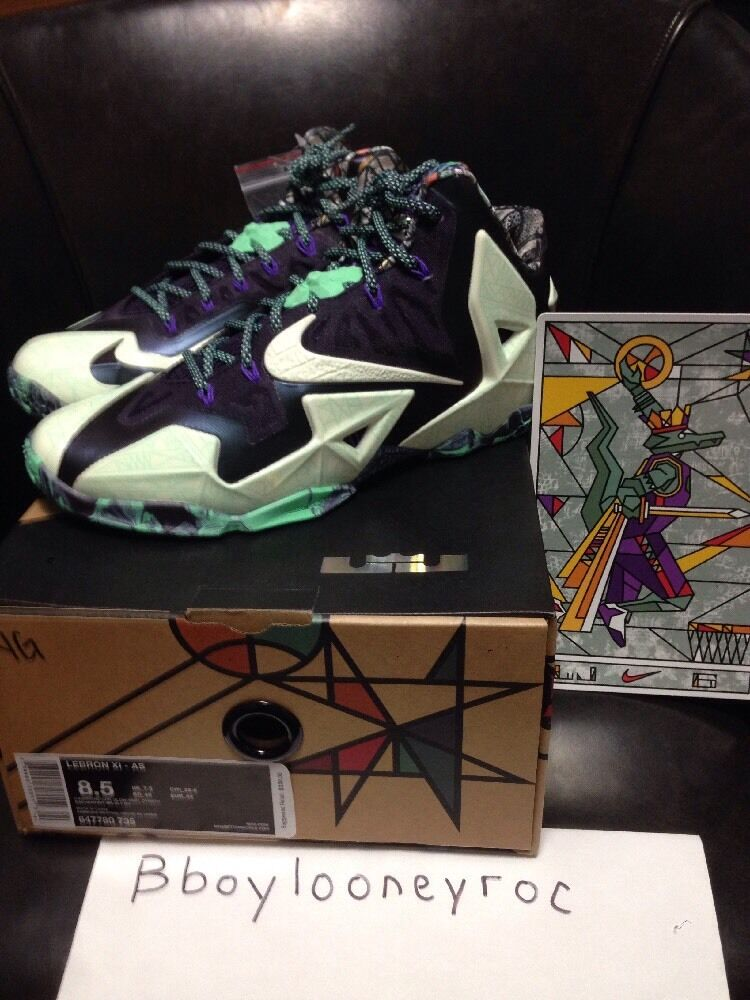 new product 6d146 5ae05 Nike LeBron 11 11 11 Gator rey como All Star sz8.5 el mas popular