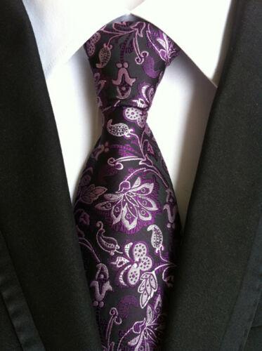 Men/'s Wedding Work Necktie Black Red Blue Stripe Paisley Floral Checks Silk Tie