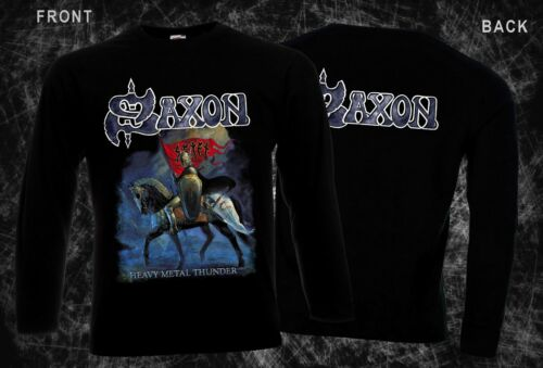 SAXON-Heavy Metal Thunder-heavy metal band,T-shirt long sleeve-sizes:S to XXL