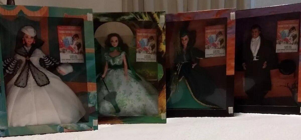Ido con el viento Barbie Lote De Muñecas Barbie Scarlett O 'Hara con Rhett Butler