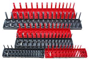 """Hansen Global 92000 6 Pack 1/4"""", 3/8"""", 1/2"""" SAE & METRIC Socket Organizer Trays"""