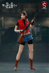 "SWtoys FS023 1//6 Resident Evil Claire Redfield 2.0 12/"" Female Figure Head Sculpt"