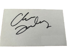 CHRIS-FARLEY-Hand-Signed-Autographed-3x5-Cut-With-COA-Tommy-Boy-SNL