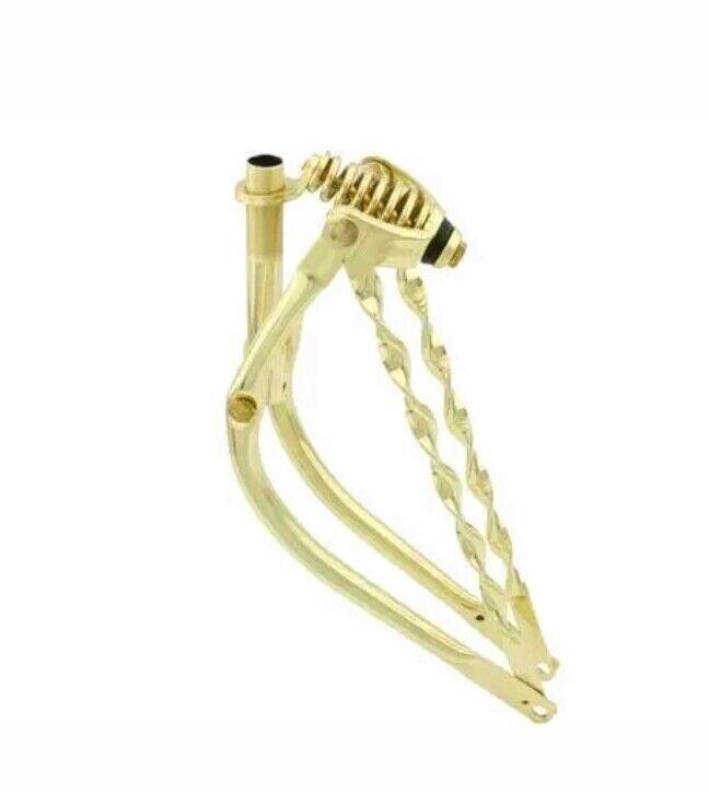Barra doblada trenzado de oro 20  Tenedor 1  Tenedor Bicicleta Lowrider SPRINGER
