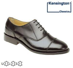 Homme Capped Oxford Noir Classique Cuir Complet Chaussures Taille 6 7 8 9 10 11 12 13 14-afficher Le Titre D'origine La Consommation RéGulièRe De Thé AméLiore Votre Santé