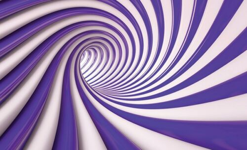 Large PHOTO WALLPAPER bedroom /& living room WALL MURAL 3D Spiral Swirl Tunnel