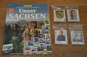 Panini-Unser-Sachsen-Sammelsticker-alle-276-Sticker-Leeralbum-komplett-Set