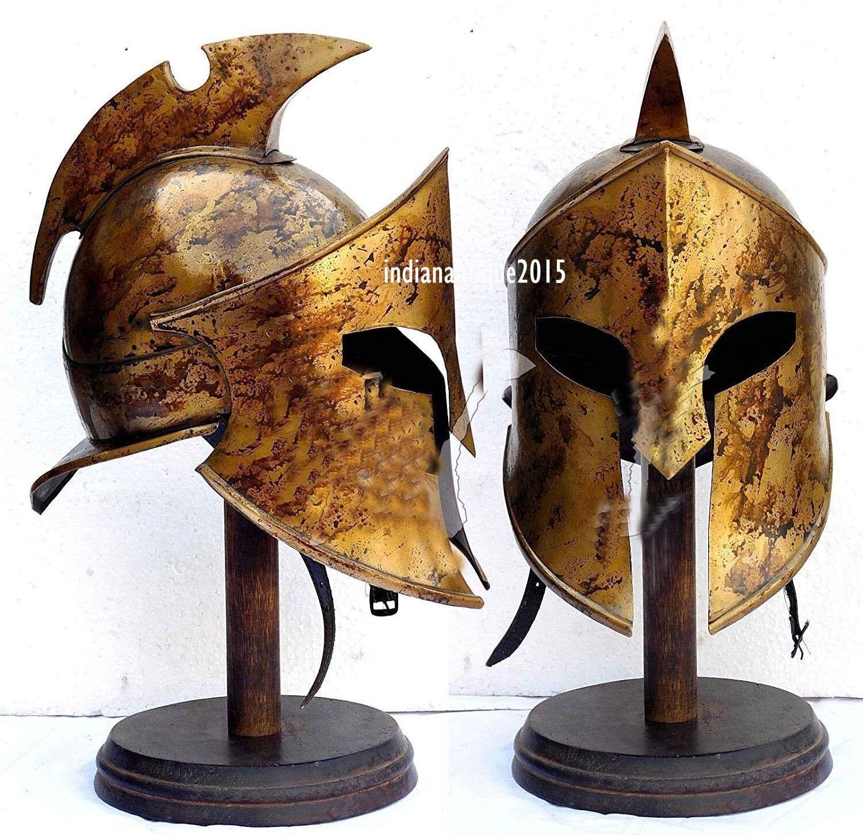 Htuttioween armor helmet re Leonidas helmet Spartan Rouomo 300 costume helmet
