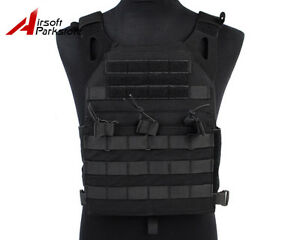 Tactical-Military-Molle-Plate-Carrier-JPC-Vest-Airsoft-Hunting-Paintball-Black