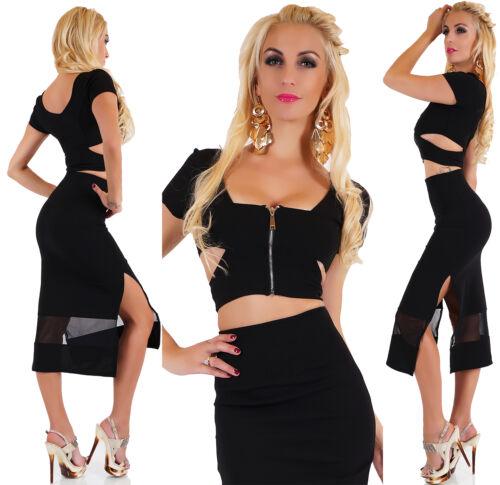 Women/'s 2PC Business Dress Skirt /& Crop Top Stretch Leisure Party Dress HOT