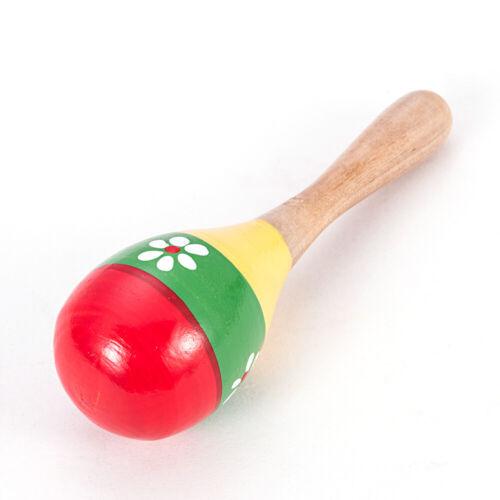 Lovely Wooden Maraca Rattles Musical Baby Children Shaker Kids Development Toys