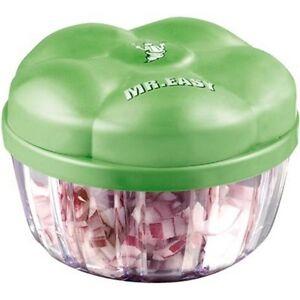 /& Gemüseschneider Zerkleinerer Gemüsehacker Küchenhelfer grün Easy Zwiebel Mr