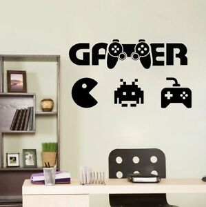 Details about Wall Decal for Boy Room Teenage Bedroom Wall Sticker for  Gamer Funny Decor