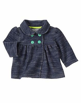 Aspiring Nwt Gymboree Girls Tiny Teal Blue & White Pea Coat Size 0-3m Cleaning The Oral Cavity. Clothing, Shoes & Accessories