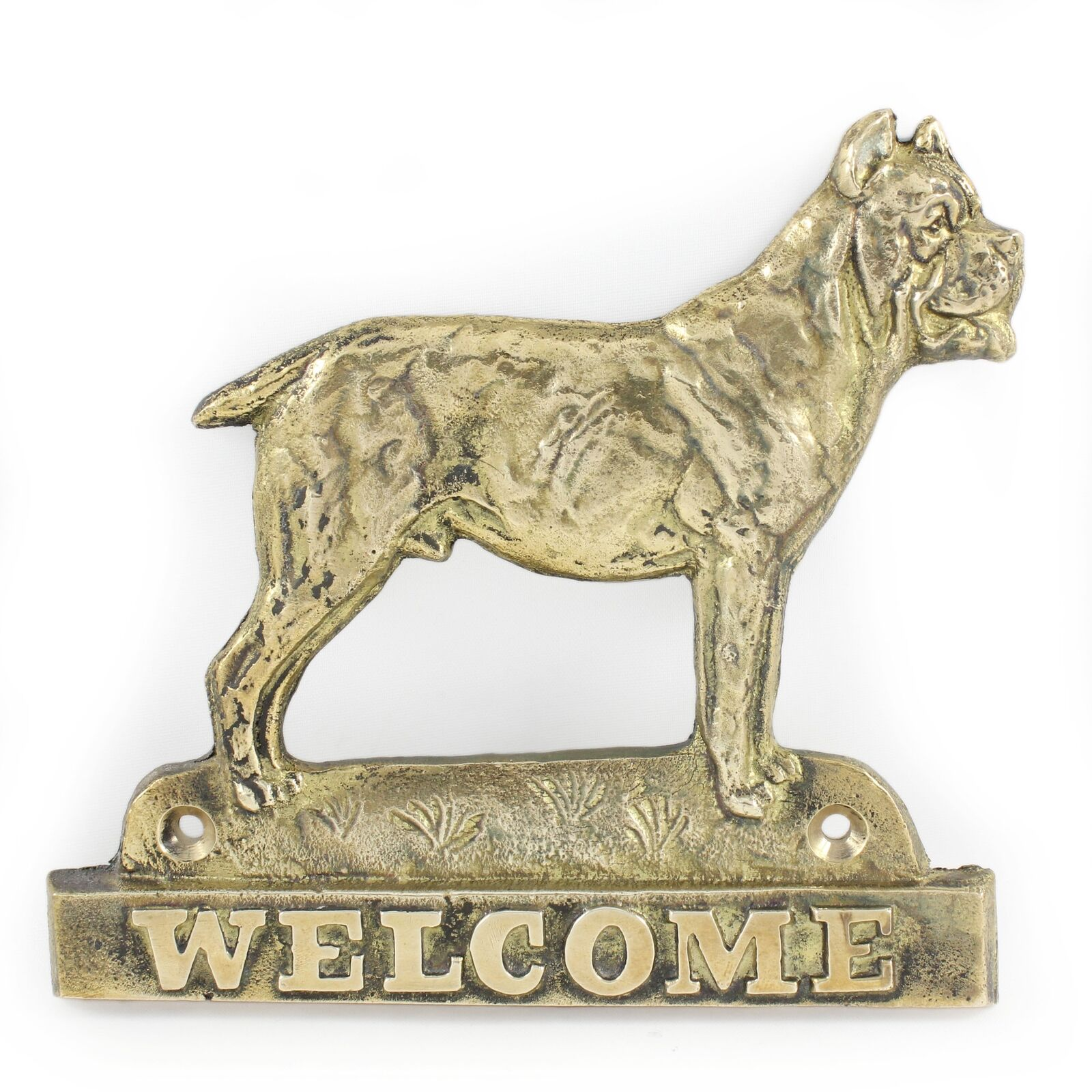 Cane Corso - brass tablet with image of a dog, Art Dog