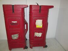 Nomadic Pop Up Display Hard Case 41x19x16 Trade Show Exhibit Goods Red Plastic