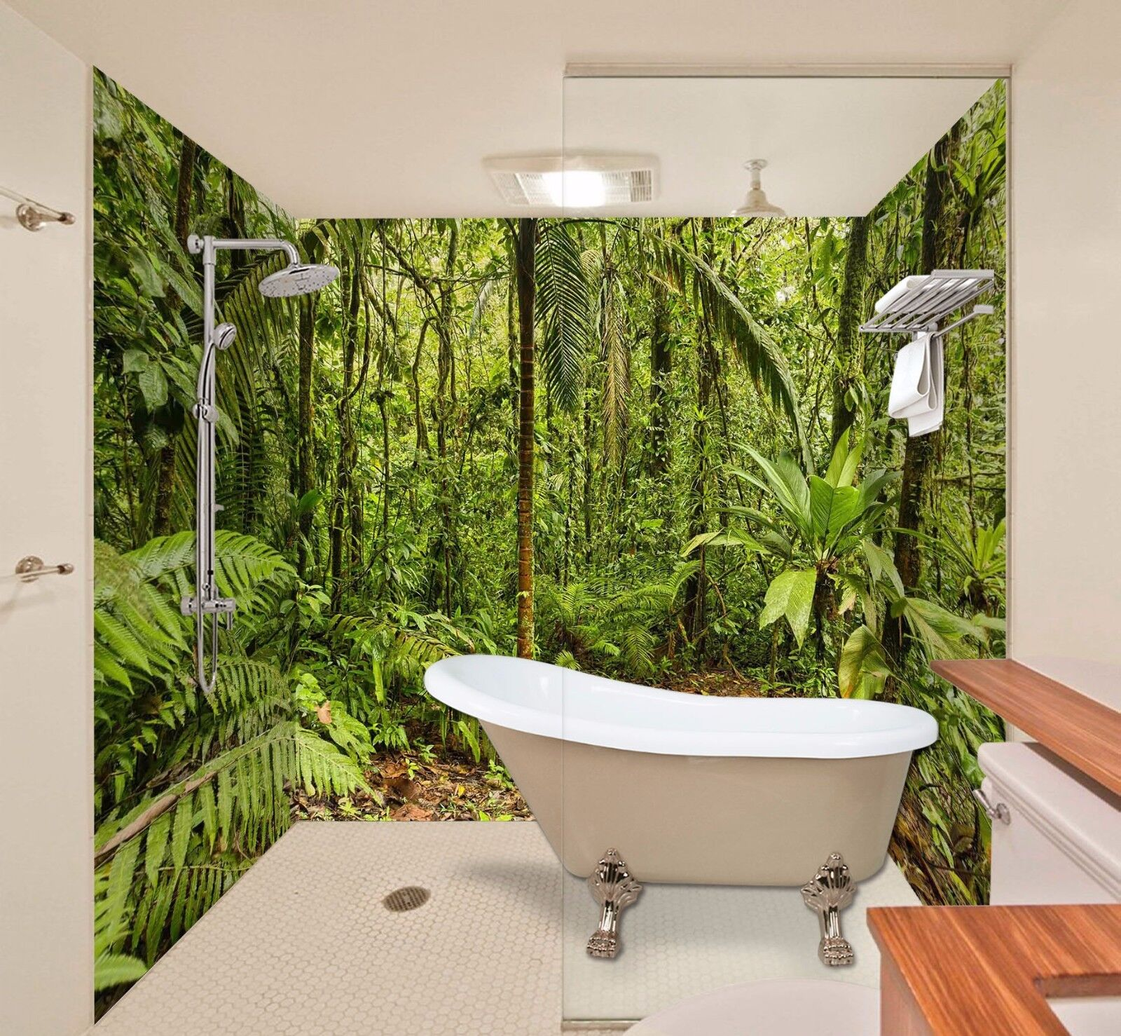 3D Jungle Tree 544 WallPaper Bathroom Print Decal Wall Deco AJ WALLPAPER AU
